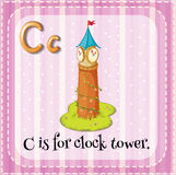 Flashcard C is for clock tower Royalty Free Stock Image