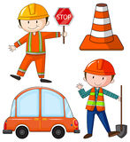 Flashcard of construction theme stock illustration