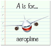 Flashcard letter A is for aeroplane Royalty Free Stock Photos