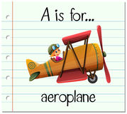 Flashcard letter A is for aeroplane Royalty Free Stock Photo