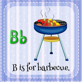 Flashcard letter B is for barbecue Stock Photos