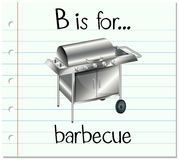 Flashcard letter B is for barbecue Royalty Free Stock Photography