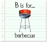 Flashcard letter B is for barbecue Royalty Free Stock Photo