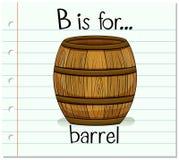 Flashcard letter B is for barrel royalty free illustration