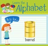 Flashcard letter B is for barrel stock illustration