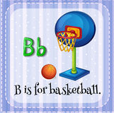 Flashcard letter B is for basketball Royalty Free Stock Images