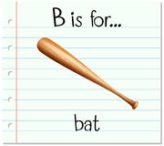 Flashcard letter B is for bat Stock Photo