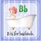 Flashcard letter B is for bathtub Stock Photography