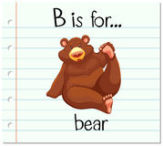 Flashcard letter B is for bear Stock Images