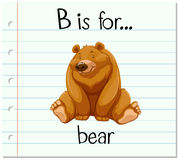Flashcard letter B is for bear Stock Photography
