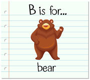 Flashcard letter B is for bear Royalty Free Stock Photo