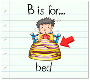 Flashcard letter B is for bed Royalty Free Stock Photography