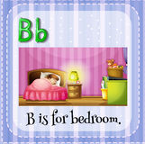 Flashcard letter B is for bedroom Royalty Free Stock Images