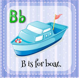 Flashcard letter B is for boat Royalty Free Stock Images