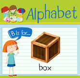 Flashcard letter B is for box Stock Image