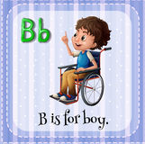 Flashcard letter B is for boy Stock Images