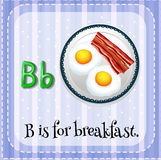 Flashcard letter B is for breakfast Stock Photography