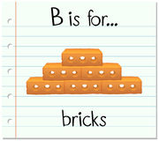 Flashcard letter B is for bricks Stock Photo