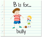 Flashcard letter B is for bully Stock Images