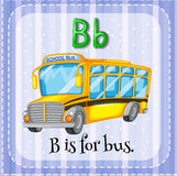 Flashcard letter B is for bus Royalty Free Stock Photos