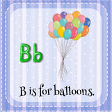 Flashcard of letter B Stock Photo