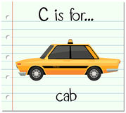Flashcard letter C is for cab Royalty Free Stock Image