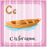 Flashcard letter C is for canoe Royalty Free Stock Image