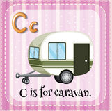 Flashcard letter C is for caravan Royalty Free Stock Photography