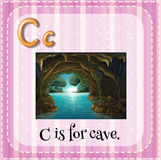Flashcard letter C is for cave Royalty Free Stock Photo