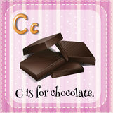 Flashcard letter C is for chocolate Stock Photography