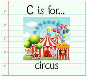 Flashcard letter C is for circus Stock Images