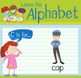 Flashcard letter C is for cop Royalty Free Stock Images