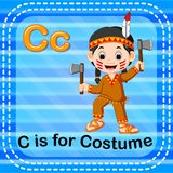 Flashcard letter C is for costume. Illustration of Flashcard letter C is for costume Royalty Free Stock Photography