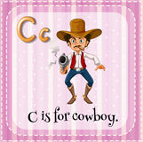 Flashcard letter C is for cowboy. Illustration Stock Photos