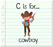 Flashcard letter C is for cowboy Stock Photos