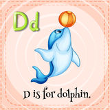 Flashcard letter D is for dalphin Stock Photo