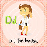 Flashcard letter D is for dentist Royalty Free Stock Photo