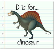 Flashcard letter D is for dinosaur Stock Images
