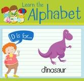 Flashcard letter D is for dinosaur Stock Photos