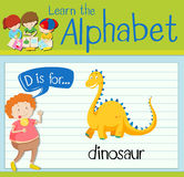 Flashcard letter D is for dinosaur Stock Photo