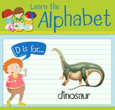 Flashcard letter D is for dinosaur Royalty Free Stock Photos