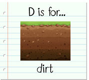 Flashcard letter D is for dirt Stock Images