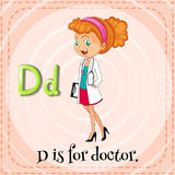 Flashcard letter D is for doctor Royalty Free Stock Photography