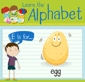 Flashcard letter E is for egg Royalty Free Stock Images