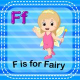 Flashcard letter F is for fairy. Illustration of Flashcard letter F is for fairy Royalty Free Stock Photos