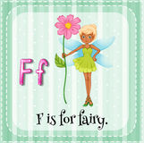 Flashcard letter F is for fairy Royalty Free Stock Images