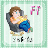 Flashcard letter F is for fat Royalty Free Stock Photos