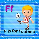 Flashcard letter F is for football. Illustration of Flashcard letter F is for football Stock Images