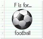 Flashcard letter F is for football Royalty Free Stock Photo
