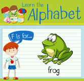 Flashcard letter F is for frog royalty free illustration